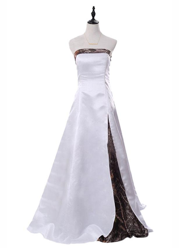 Sunvary 2016 White And Camouflage Long Wedding Dress
