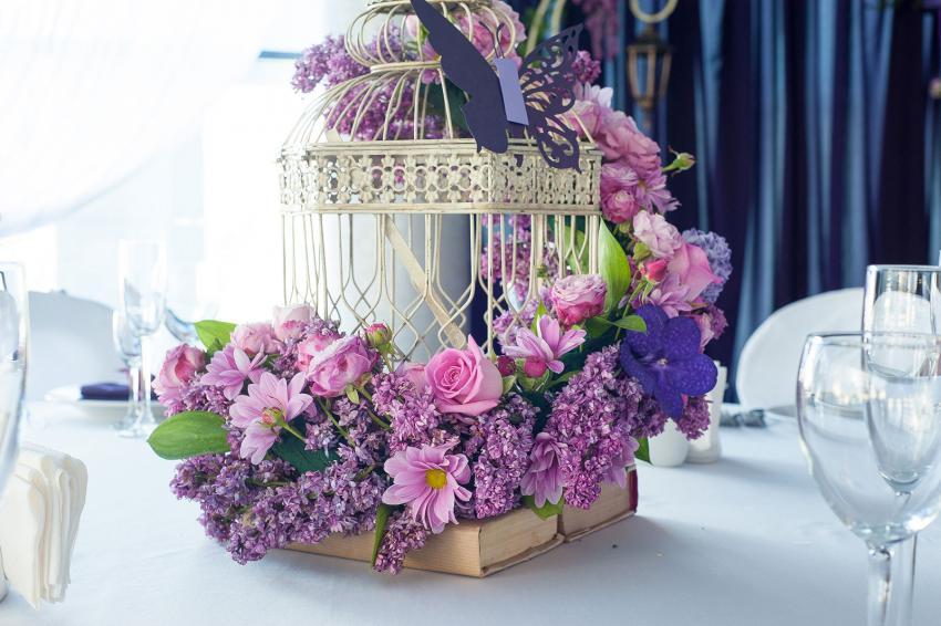 Purple Flower Centerpieces For Summer Weddings Lovetoknow