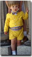 Yellow Toddler Ring Bearer Outfit © Pegeen Formal Wear for Children