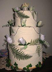 three tier towel cake