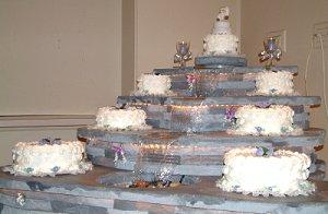 Wedding Cakes with Waterfalls