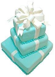 Classic Tiffany blue boxes wedding cake
