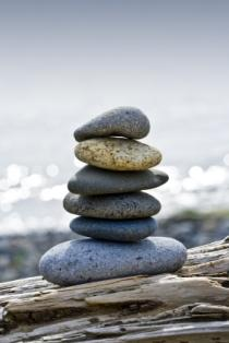 Image of a stack of blessing stones