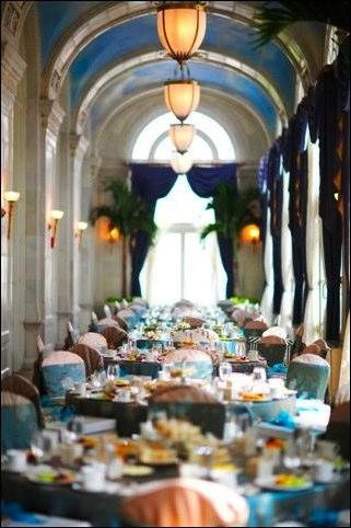 An elaborate, last-minute wedding reception