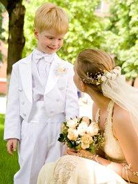 Bride with her ring-bearer son