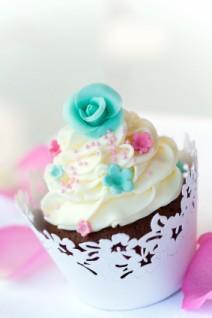 cupcake in pretty wrapper