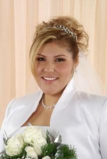 bride in bolero jacket