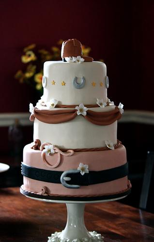 Western cake with boot and lasso