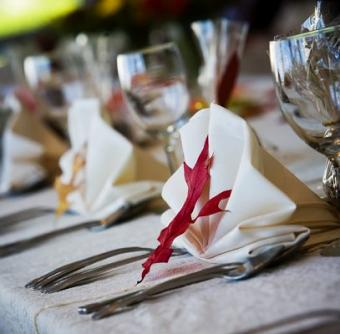 Table Setting for a Fall Wedding