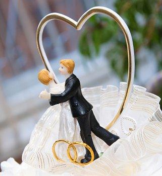 Heart Wedding Cake Toppers