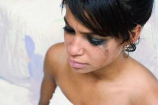 bride crying