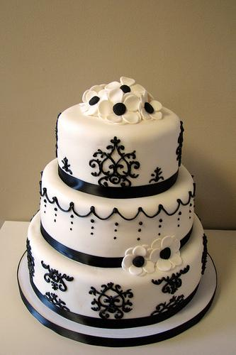 Damask Wedding Cakes