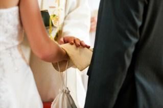 wedding blessing during ceremony