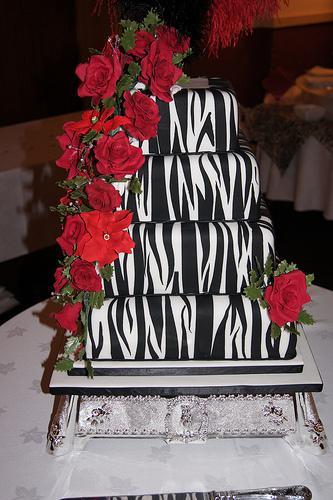 Zebra and Pink Wedding Cakes