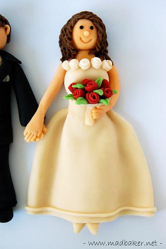Gum Paste Wedding Cake Toppers