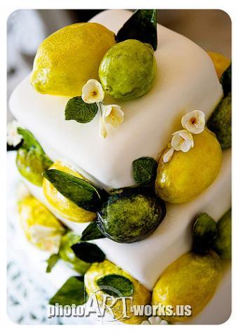Lemon and Lime Wedding Cakes