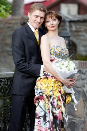 unique avant garde colored gown