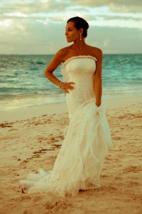 Bride on the beach