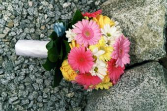 multi-colored Gerbera bouquet
