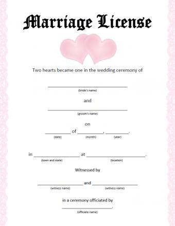Two hearts license