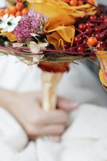 fall wedding colors wine peach and wisteria