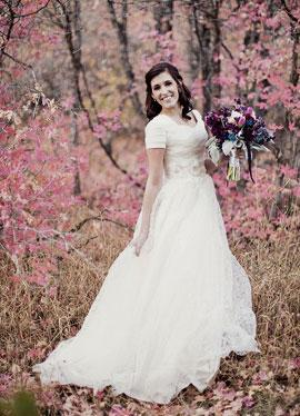 Altamoda modest wedding dress