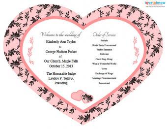 Free wedding program fan