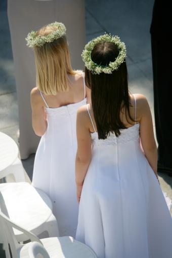 Flower girls with hair wreaths
