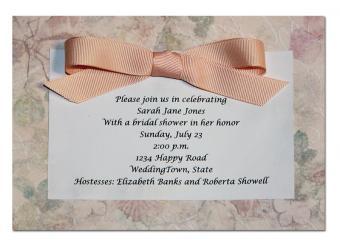 layered bridal shower invitation