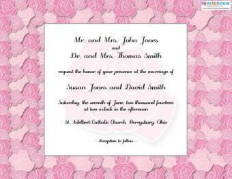 Free, customizable formal wedding invitation