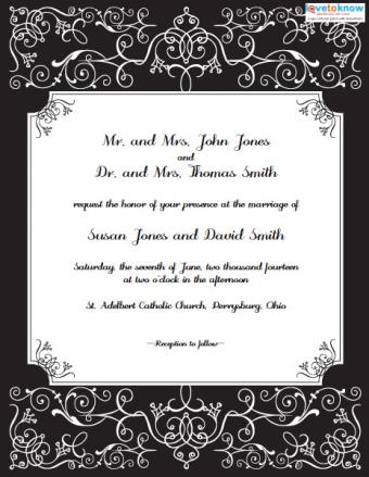 Free printable formal wedding invitation
