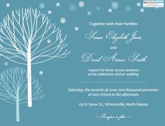 Winter Wedding Invitation Trees
