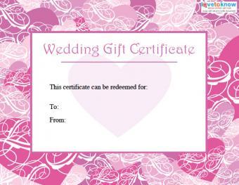 Free wedding gift certificate