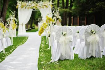 covered wedding chairs