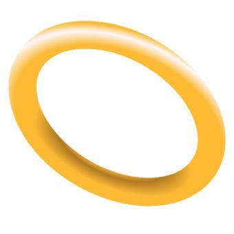 Single gold ring