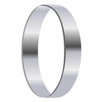 Single silver ring