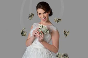 Bride with cash