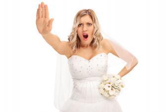 Displeased bride