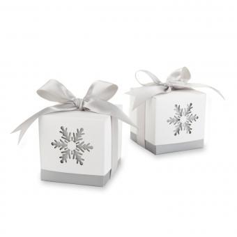 Winter Dreams Snowflake Wedding Favor Boxes