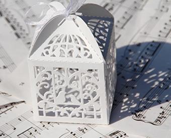 Bird Cage Wedding Favor Box