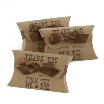 Western-Style Pillow Wedding Favor Boxes