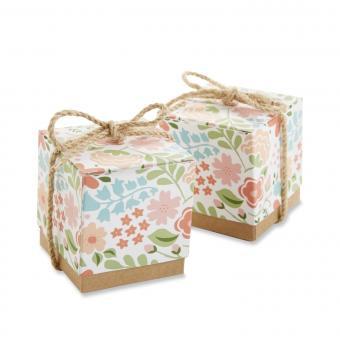 Floral Dreams Wedding Favor Boxes