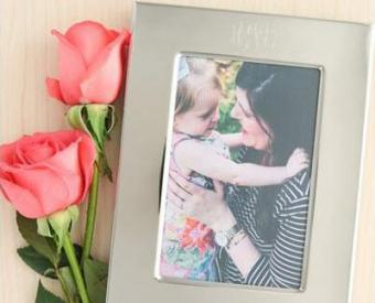 Monogrammed Silver Classic Frame
