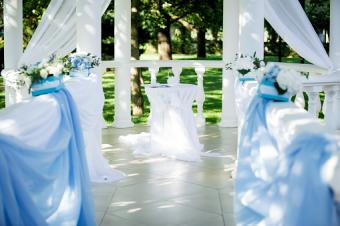 Flower decor wedding ceremony