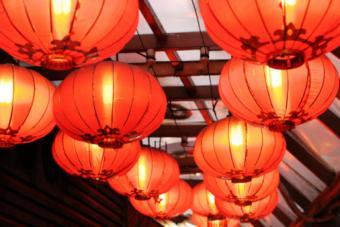 orange lamps
