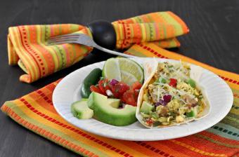 Egg and chorizo taco