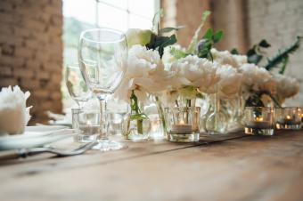 Wedding room decorated loft style