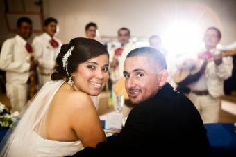 Hispanic wedding reception