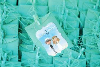 Beach Wedding Stickers for Favor Bags