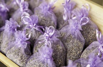 small tulle lavender sachets